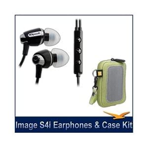 Klipsch Image S4i In-Ear Headset with Mic and 3-Button Remote Headphones Bonus Pack