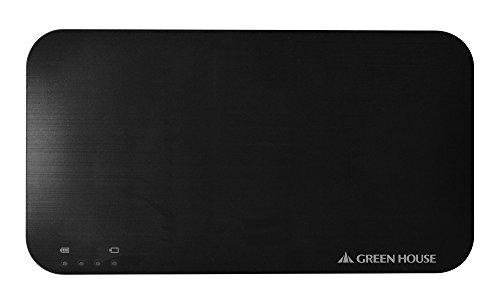 GREEN HOUSE ソーラー充電器 Wパネル ブラック GH-SCA2900-BK