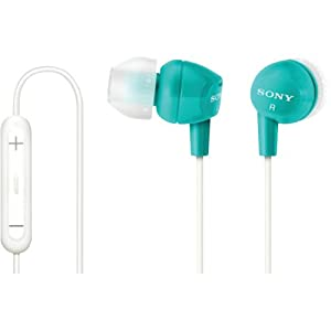 Sony DREX12IP/BLU EX Earbuds with iPod Remote - Ear set - Retail Packaging - Blue