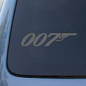 007 - JAMES BOND - Vinyl Car Decal Sticker #1763 | Vinyl Color: Silver