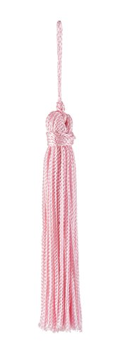 Set of 10 Pink Chainette Tassel, 3 Inch Long with 1 Inch Loop, Basic Trim Collection Style# RT03 Color: Pink - K11
