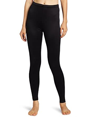 Duofold Women's Mid Weight Bottom Base Layer Legging, Black, X Large
