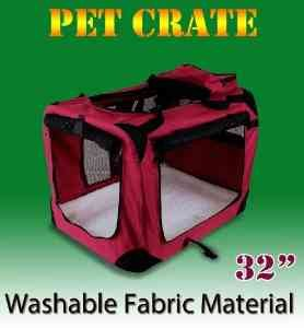 New Large Dog Pet Puppy Portable Foldable Soft Crate Playpen Kennel House - Red front-926592