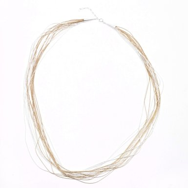 Mix Strands Necklace by Maven (30 Inch)