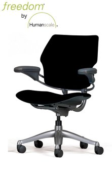 HumanScale Freedom Chair, Black Wave Fabric
