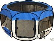 Pet Travel, Indoor Or Outdoor Play Pen / Tent *Blue* *Medium*