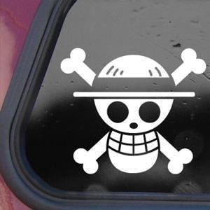 one-piece-luffy-flag-white-sticker-decal-pirate-cartoon-anime-white-sticker-decal