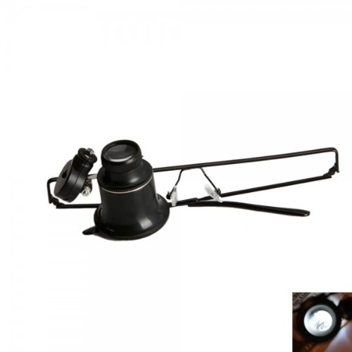 Fast Shipping + Free Tracking Number, Magnifier 10X Led Light Illumination Loupe Magnifying Glass Eye Glasses Style Hand Free