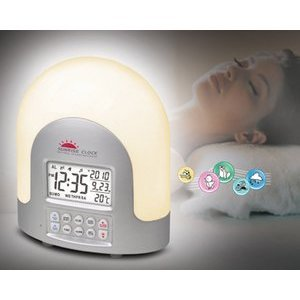 High Tech Sunrise Alarm Clock - Dawn Simulator - Set Gradual Wake Up Light Alarm Up To 60 Mins - Nature Sounds Alarm Clock