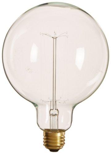 Heirlume Hl-7225Wpack1 Vintage Edison Bulb 25-Watt With Medium Base And Globe Shape, 4.9-Inch X 6.9-Inch, 1-Pack