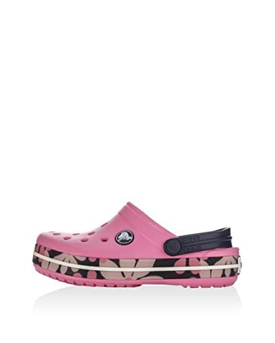 Crocs Zuecos Tropical Flower Girls Rosa