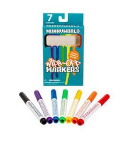 Kidrobot Munnyworld Wipe-off Markers - 7 Pack
