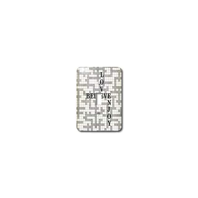 lsp_100599_1 Florene Numbers Symbols And Sayings   Crossword Puzzle With Love Believe n Joy Written   Light Switch Covers   single toggle switch   Wall Plates