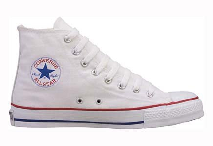 Converse Chuck Taylor All Star Hi Top Optical White Canvas