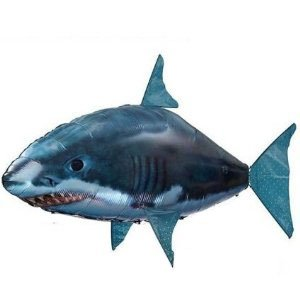 Air swimmer remote control inflatable flying shark for Remote control air swimming fish