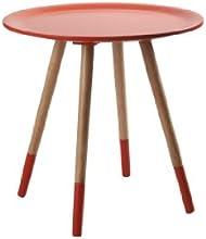 Zuiver 2300006 - Base tavolino Two Tone, 48 x 48 x 47,5 cm, colore: Arancione