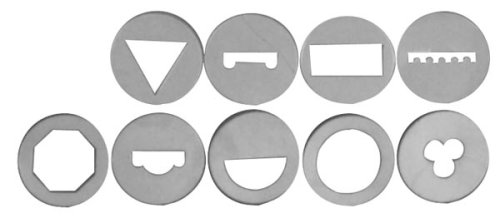 9 Piece Disc Shapes Set for Large Clay Extrusion Gun