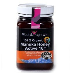 100 Organic Manuka Honey Active 16 by Wedderspoon Organic 500 Grams