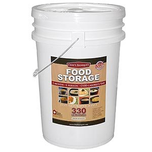 Chef s Banquet ARK 1 Month Food Storage Supply 330 Servings Up to 15 Year Shelf Life