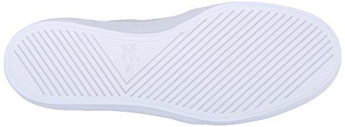 Lacoste Women's Gazon Slip on 216 1 Flat, Off White/White, 6 M US