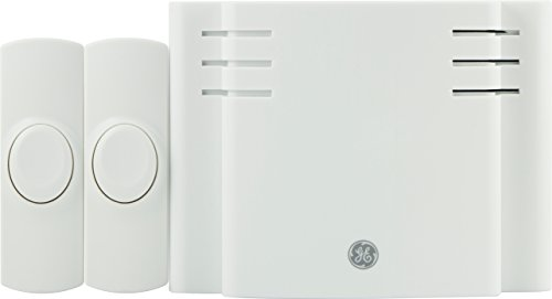 GE Battery-Operated Wireless Door Chime with 2 Pushbuttons, White, 8 Melody, 19297 (Battery Operated Doorbell compare prices)