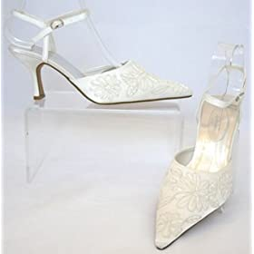 satin wedding shoes by Anne Michelle