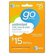 At&t Go Phone Refill Card $15