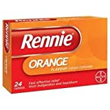 Bayer Healthcare EDI (Otc) Rennie Orange Chewable 24