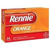 Bayer Healthcare EDI (Otc) Rennie Orange Chewable 24