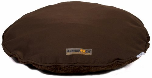AlphaPooch Drifter Round Dog Bed Coco Fabric with Coco Fleece Large