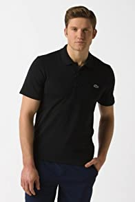 Super Light Short Sleeve Textured Trim Cotton Stretch Polo Shirt