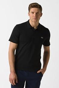 Super Light Short Sleeve Textured Trim Cotton Stretch Polo Shirt