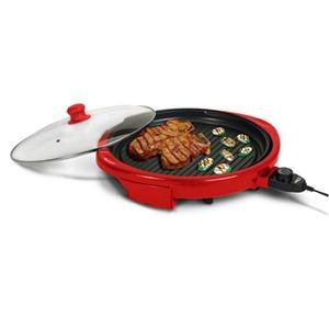 MaxiMatic EMG-980R Elite Gourmet Electric Indoor Grill, 14-Inch, Red
