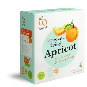 Wel-b Freeze Dried Apricot 100% Natural Healthy Freeze Dried Food Snack Food Healthy Snack 1.06 0z..