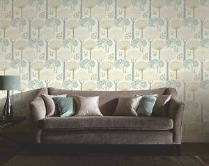 Arthouse Vintage Bernwood Wallpaper - Teal by New A-Brend