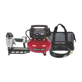 Factory-Reconditioned Porter Cable PC1PAKR 1-Gun Nailer Compressor Combo Kit