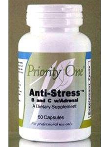 Priority One Vitamins - Stress B&C W/Adrenal 60 Caps