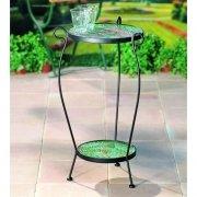 tisch Tischrohling Tisch rund Durchmesser 30 cm 2-stufig, schwarz