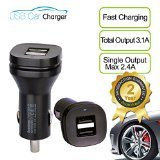 Avantree Dual Usb 3.1 Amp 15W Car Charger For Phones And Tablets