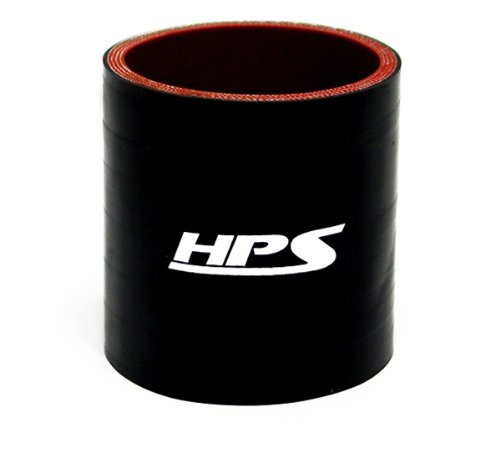 HPS Silicone Hoses HTSC-238-L4-BLK Silicone High Temperature 4-ply Reinforced Straight Coupler Hose, 85 PSI Maximum Pressure, 4 Length, 2-3/8 ID, Black epman 2 5 3 63mm 76mm 4 ply silicone 90 degree elbow reducer hose black for bmw e39 android ep ss90r6376