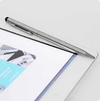 iClooly Stylus Gentle - 2 in 1 Capacitive Touch Screen Stylus with Ball Point Pen for iPad and iPhone