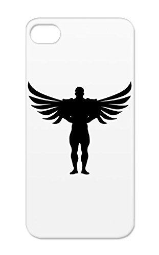 TPU Bodybuilder Engel F1 Wings Super Hero Anglo Winner Symbols Shapes Champion Angel Heavy Bodybuilding Body Weight One Building Winnner Boxing Champ Strength Sports Wing Muscles Black For Iphone 5s Protective Hard Case