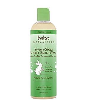 Babo Botanicals Cucumber Aloe Vera Replenishing Bubble Bath and Wash