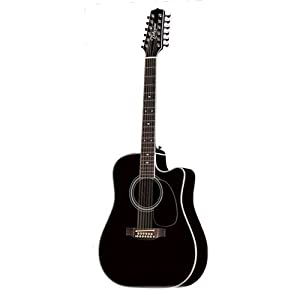 takamine ef381sc legacy series 12 string acoustic electric guitar black musical. Black Bedroom Furniture Sets. Home Design Ideas