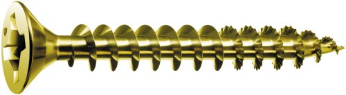 SPAX #10 x 3in. Flat Head Unidrive Yellow Zinc Coated Screw - 1 LB Box (Wood Screws 3 Inch compare prices)