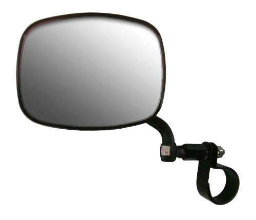 """CIPA M37 UTV Side View Mirror (Black) fits Rollcage diameters from 1-3/4"""" to 2"""" - Driver Side"""