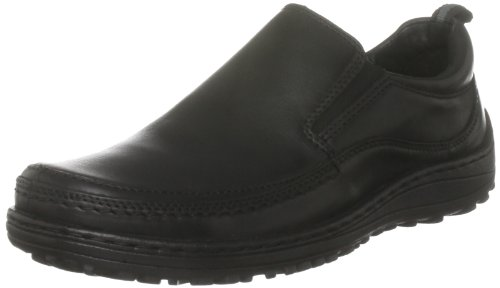 Hush Puppies Men's Harland Black Leather Slip On Shoe H13978000 7 UK, 41 EU