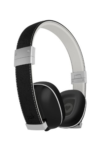 Polk Audio Hinge Headphones - Black/Silver - With 3 Button Remote And In-Line Microphone