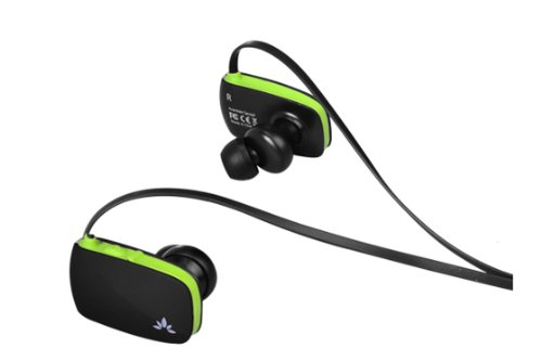 Avantree Sacool Ultra Light and Slim On-Ear Design Bluetooth Stereo Headset with Microphone for Music and Hands-Free Calling - Black/Green Avantree Bluetooth Headsets autotags B00B4YD2P6