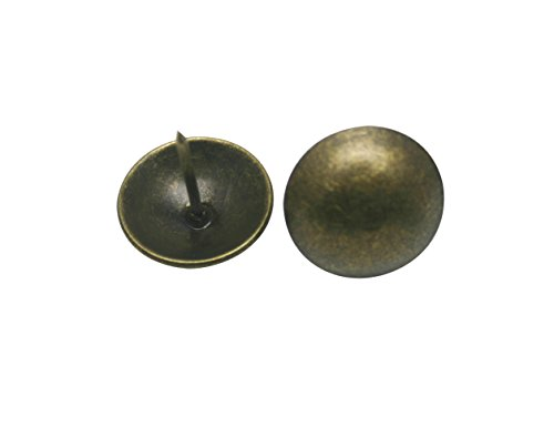 "Check Out This Generic Round Large-headed Nail 1"" Diameter Color Antique Brass Pack of 50"